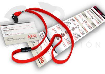 Tarjeta de visita AEG