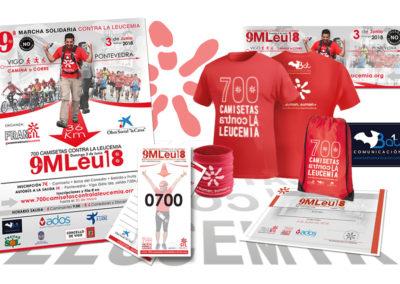 Branding 700 Camisetas contra la leucemia