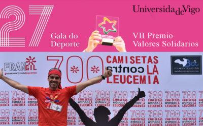 El VII Premio Valores Solidarios para 700 camisetas contra la leucemia.