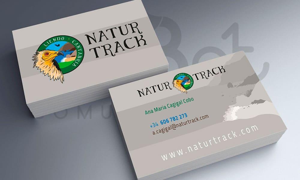 Diseño de tarjeta de visita Natur Track