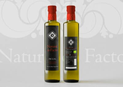Etiqueta de aceite Natural de Facto