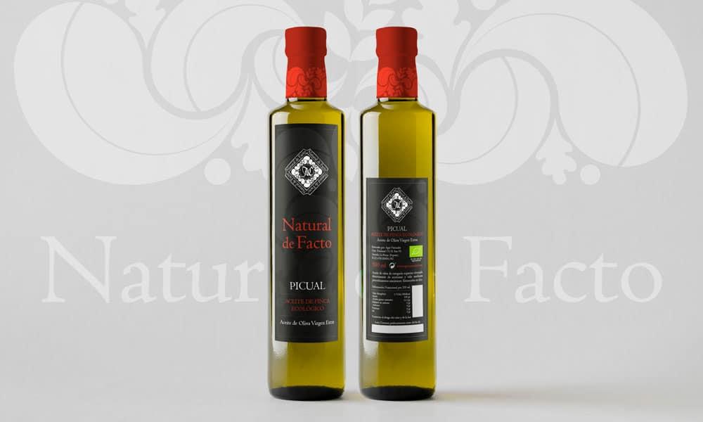 Etiqueta de aceite Natural de Facto