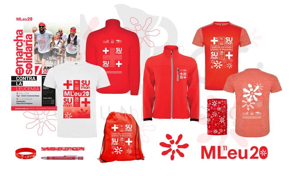 Merchandising 700 Camisetas contra la Leucemia